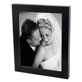 Image of 24x36 Black & White Photo to Canvas with Classic Black Frame
