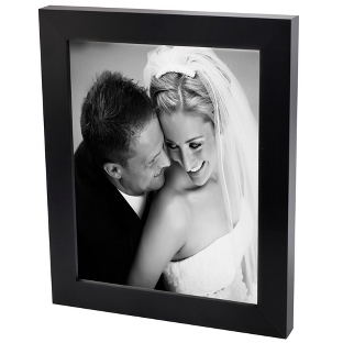 Image of 30x40 Black & White Photo to Canvas with Classic Black Frame