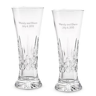 Image of Waterford Lismore Pilsner Glass Pair
