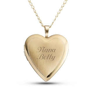 Image of Gold over Sterling Heart Locket with complimentary Filigree Keepsake Box
