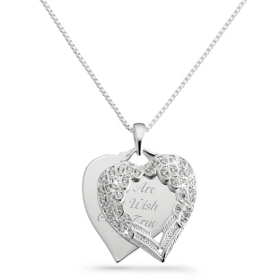 Image of 2012 Make-A-Wish Heart Charm Necklace with complimentary Filigree Keepsake Box