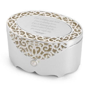 Image of Filigree Oval Box