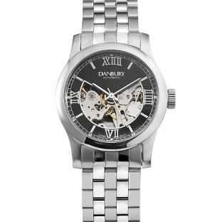 Image of Black Dial Skeleton Wrist Watch