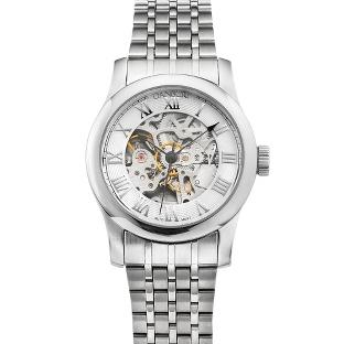 Image of White Dial Skeleton Wrist Watch