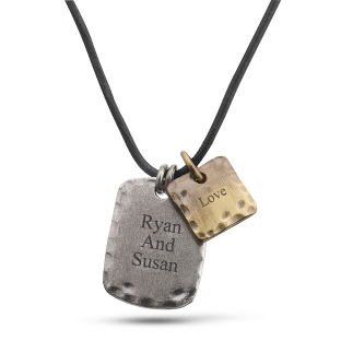 Image of Double Tag Pendant with complimentary Tri Tone Valet Box