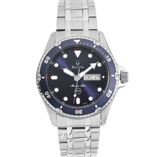 Image of Men's Bulova Marine Star Blue Dial Diver Watch 98C62