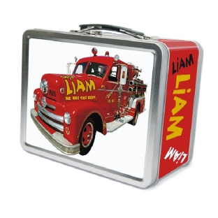 Image of Fire Truck Lunch Box