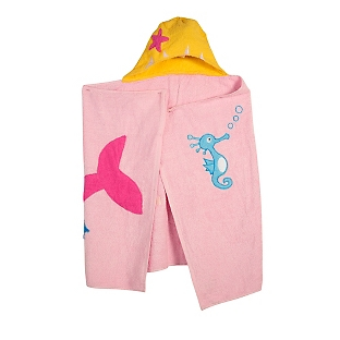 Image of Girl's Mermaid Hooded Towel