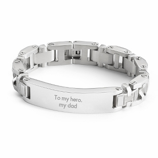 Image of Rectangle ID Bracelet with complimentary Tri Tone Valet Box