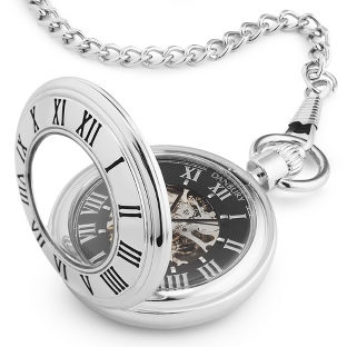 Image of Open Face Pocket Watch (Demi-Hunter)