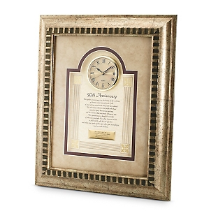 Image of 50th Anniversary Frame Clock