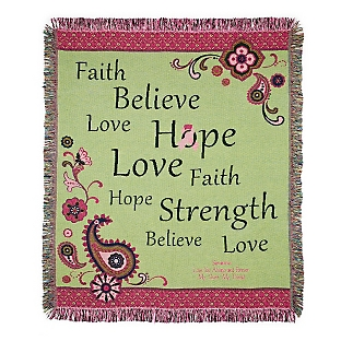 Image of Love Hope Believe Throw