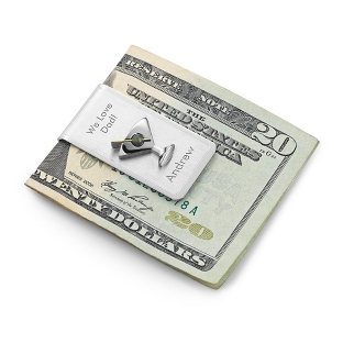 Image of Sterling Silver Martini Money Clip
