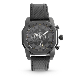Image of Men's Bulova Marine Star Black on Black Watch 98B151