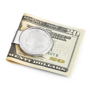 Image of Sterling Silver Morgan Silver Dollar Money Clip