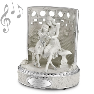 Image of Mother & Daughter Musical Figurine