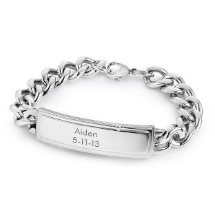 Image of Platinum Plated ID Bracelet