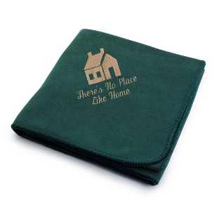 Image of Dark Tan House on Forest Fleece Blanket