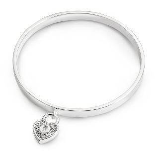 Image of Padlock Bangle with complimentary Filigree Keepsake Box