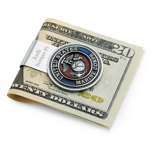 Image of Pewter U.S. Marine Corp Money Clip