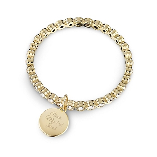 Image of Gold Eternity Clear Bangle with complimentary Filigree Keepsake Box
