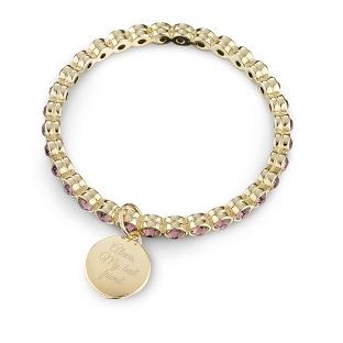 Image of Gold Eternity Rose Bangle with complimentary Classic Beveled Edge Round Keepsake Box