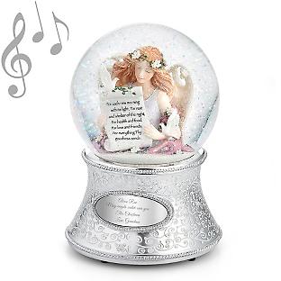 Image of Angel of Gratitude Musical Snow Globe