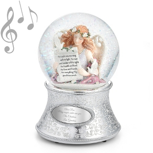 Image of Angel of Gratitude Musical Snow Globe