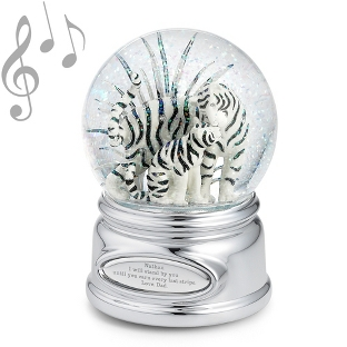 Image of Tiger and Cub Musical Water Globe