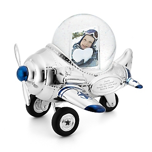 Image of Airplane Photo Snow Globe
