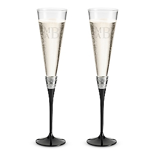 Image of Vera Wang by Wedgwood With Love Noir Toasting Flutes