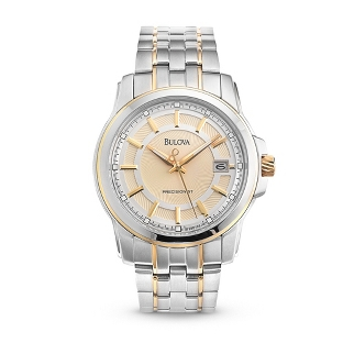 Image of Men's Bulova Precisionist Two Tone Watch 98B156