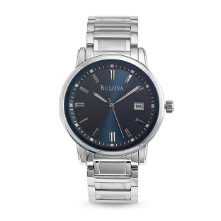 Image of Men's Bulova Highbridge Blue Dial Watch 96B160