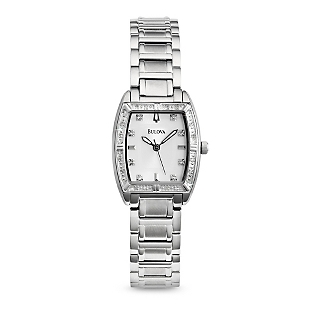 Image of Ladies Bulova Diamond Highbridge Watch 96R162 with complimentary Filigree Keepsake Box