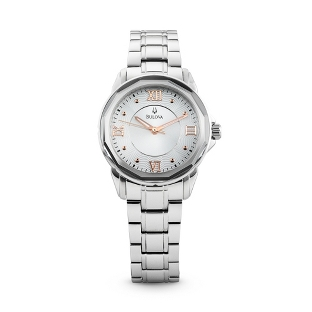 Image of Ladies Bulova Round Dial Watch 96L172 with complimentary Filigree Keepsake Box