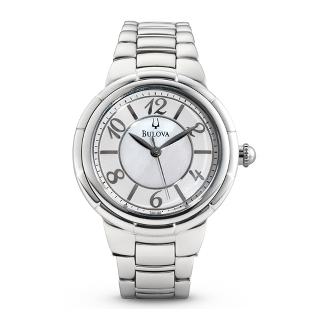 Image of Ladies Bulova Rosedale Watch 96L169 with complimentary Filigree Keepsake Box