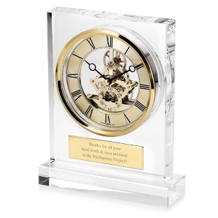 Image of Howard Miller Prestige Glass Crystal Clock