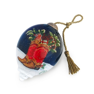 Image of Hand Painted Boots Ornament