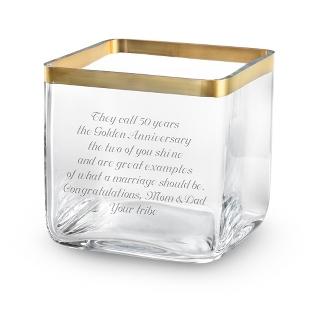 Image of Savoy Gold Rim Vase