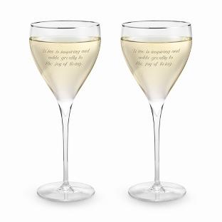 Image of Savoy Platinum Rim Wine Set