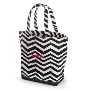 Image of Black Chevron Tote