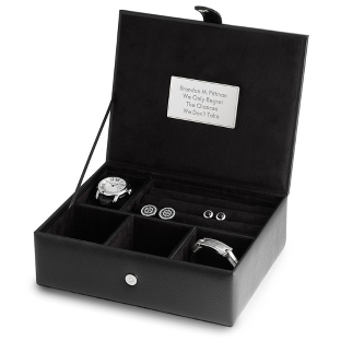 Image of Pebble Grain Men's Valet Box