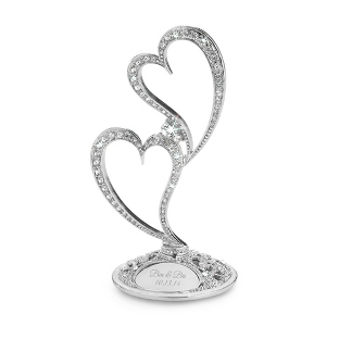 Image of Double Heart Cake Topper