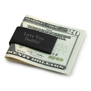 Image of Black & Silver Hinged Money Clip
