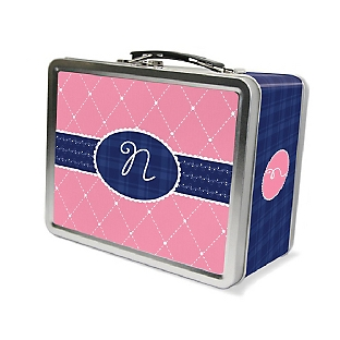 Image of Quilted Monogram Lunch Box