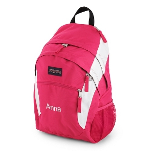 Image of JanSport Wasabi Laptop Backpack Pink & White