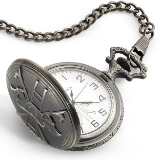 Image of Antique Brass Fireman's Pocket Watch