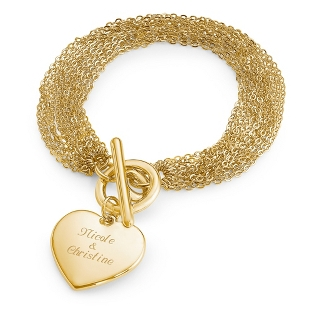 Image of Gold Multi Chain Bracelet with complimentary Filigree Keepsake Box