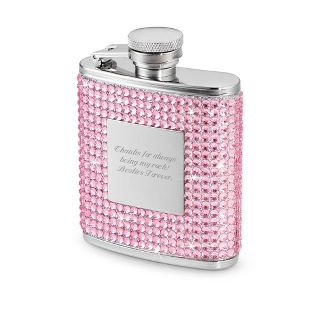 Image of 2.5 oz. Pink Bling Flask