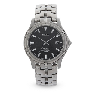 Image of Seiko Le Grand Sport Titanium Watch with complimentary Black Lacquer Wrist Watch Box